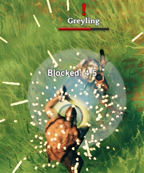 Blocking an enemy attack