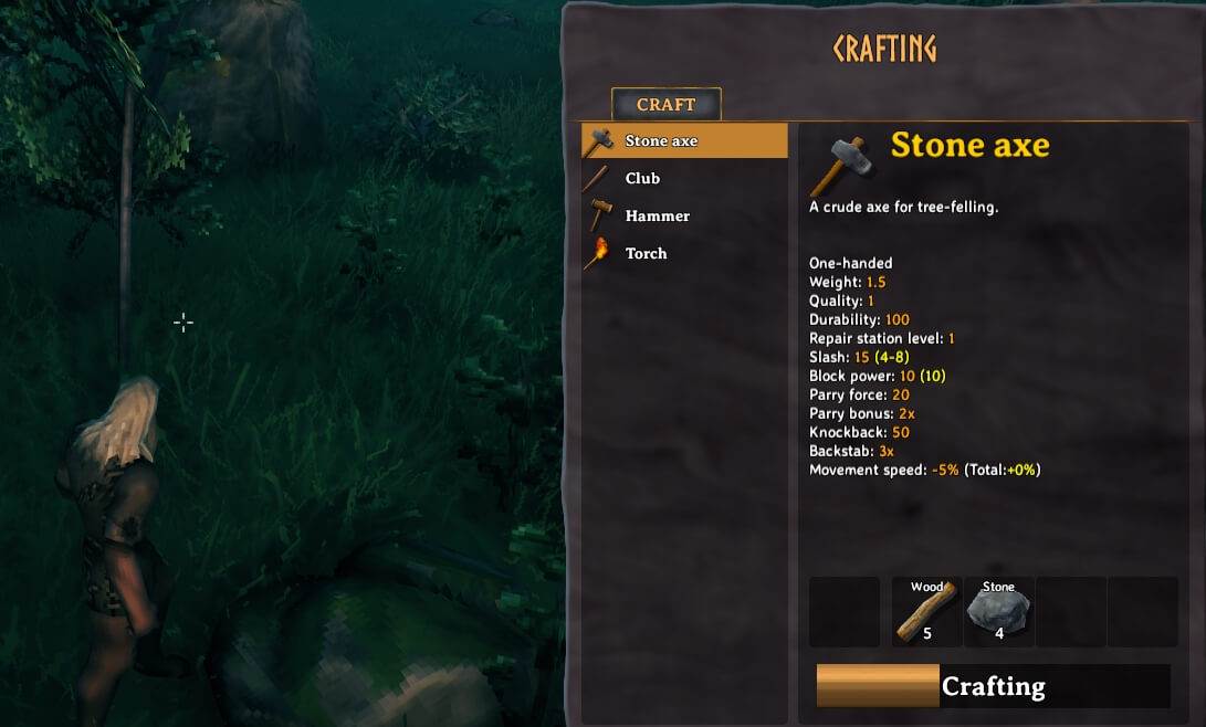 Crafting a stone