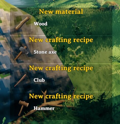 Unlock new recipes by picking up new materials